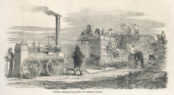 Hornsby's Steam powered thresher