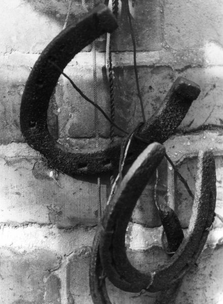 Old horseshoes. Date: 1960s