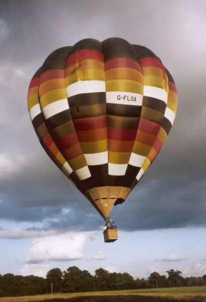 Hot air balloon in Newbury, Oxfordshire