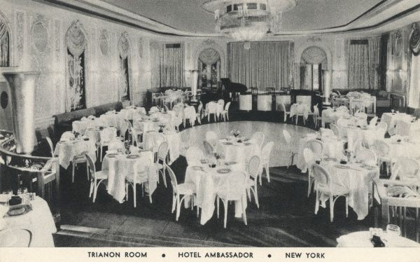 Trianon Room in the Hotel Ambassador on Park Avenue and 51st Street, New York City, America