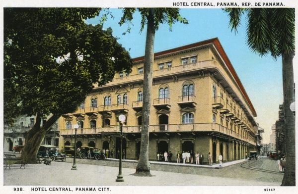 Hotel Central, Cathedral Park, Panama City, the oldest and most famous and best located first class hotel in Panama city
