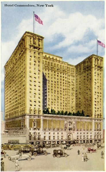 Hotel Commodore on Lexington Avenue and 42nd Street, New York City, America