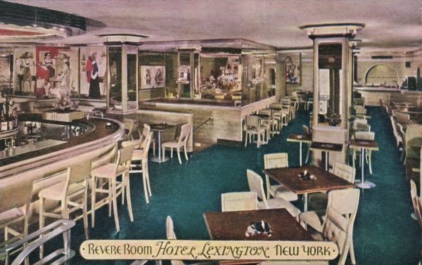 The Revere Room at the Hotel Lexington, New York City, America