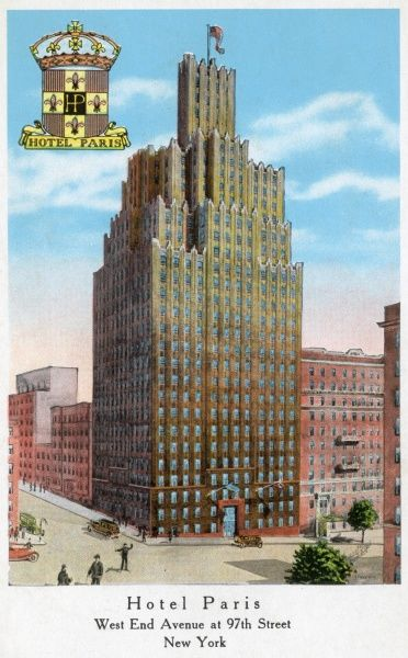 Hotel Paris, West End Avenue at 97th Street, New York City, America