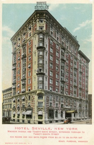 Hotel Seville on Madison Avenue and 29th Street, New York City, America