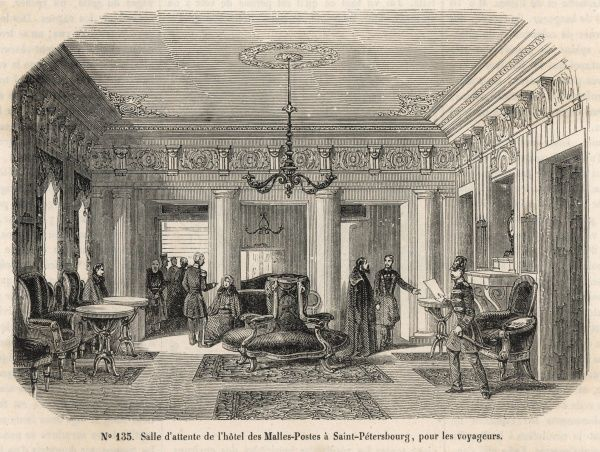 The waiting room at the hotel des Malles-Postes, Saint Petersburg