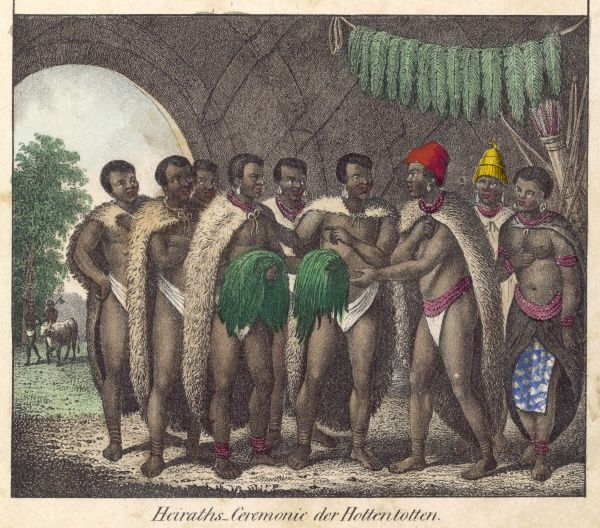 Hottentot marriage ceremony