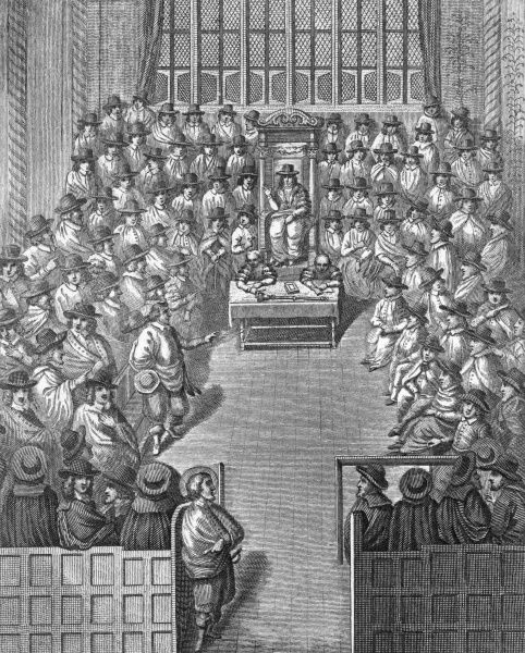 The House of Commons during the Commonwealth. Date: 1651