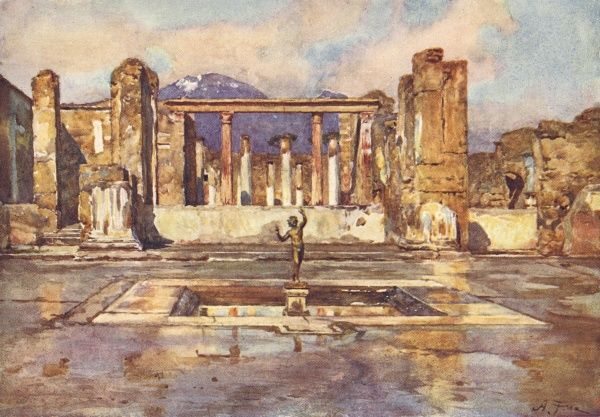 Pompeii: House of the Fawn. Date: 1910
