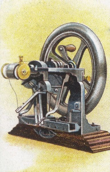 Elias Howe's sewing machine was the first to employ the lock-stitch Date: 1845
