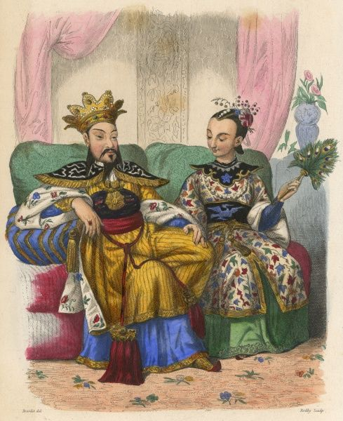 HSI TSUNG also known as CHU YUCHIAO and T'IEN-CH'I Emperor of China (1620-27) with his wife Date: 1605 - 1627