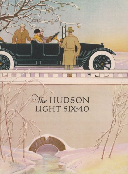 Nice artwork for the Hudson Light Six-40 in a picturesque winter setting