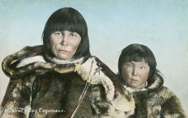 Hudson's Bay Inuit Mother and Daughter
