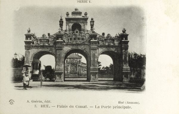 Hue, Vietnam - Imperial City (Walled Fortress) - Principal Gate Date: circa 1900
