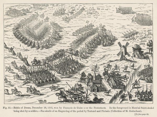 Francois, duc de Guise, defeats the Huguenots at Dreux