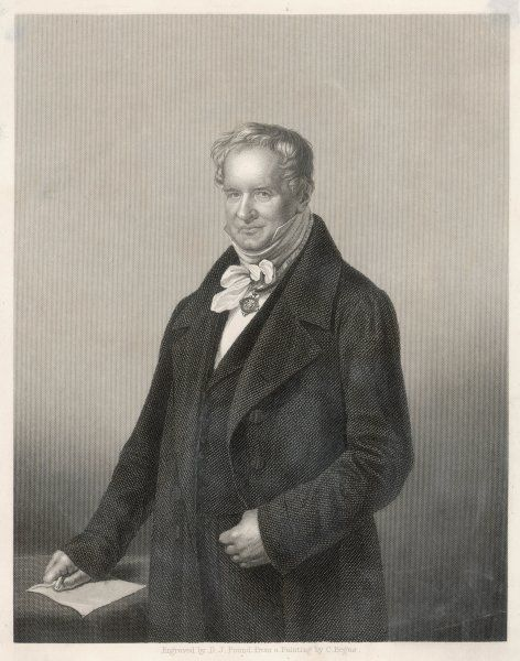 ALEXANDER VON HUMBOLDT German scientist and traveller towards the end of his life