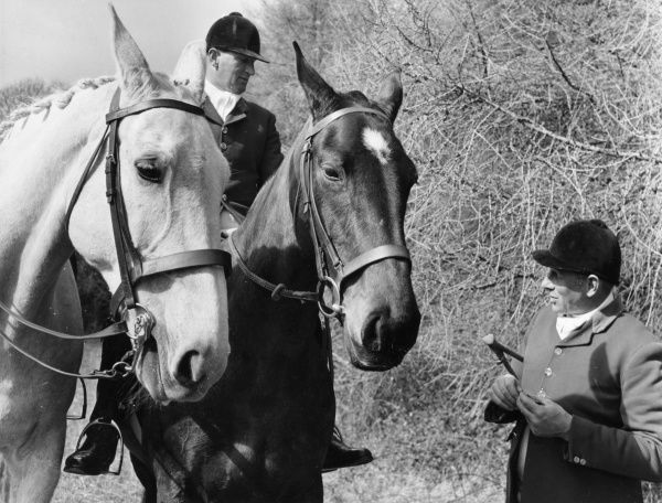 Mounted Huntsmen of the South Devon Fox Hounds - Mr Whitley and Albert Harris