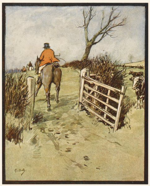 'G is the Gate, which by Hunt etiquette we should shut if we're last - and don't you forget !&#39