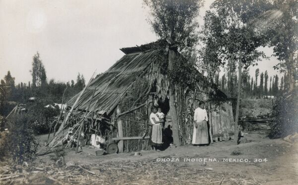 House or 'Choza' of indigenous Indians, Mexico - used to spend the night during hunting trips