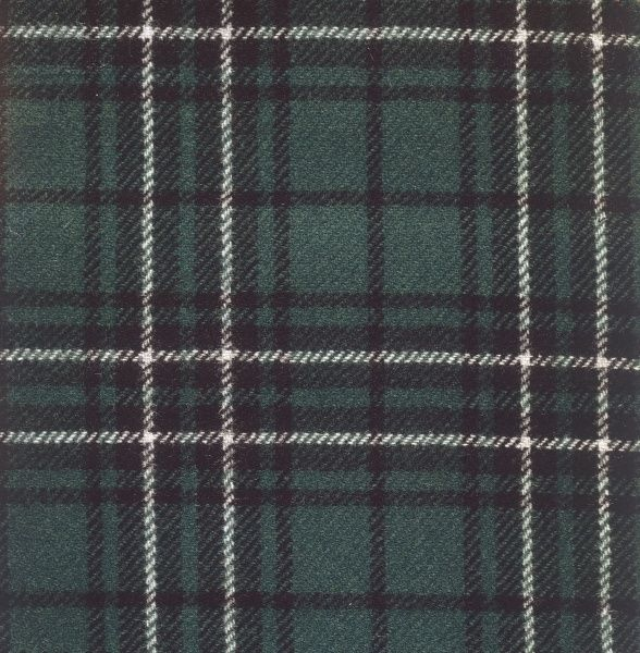 The Hunting McLean (MacLean) tartan of Scotland. Date: photo taken 1971