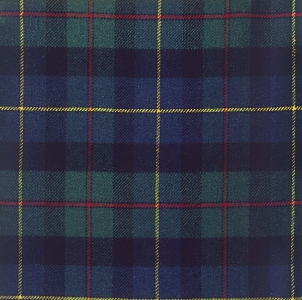 The Hunting McLeod tartan of Scotland. Date: photo taken 1971