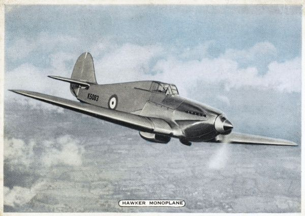 Sidney Camm's F36/34 monoplane will develop into the 'Hurricane', the most efficient if not the most glamorous of the Royal Air Force's fighters