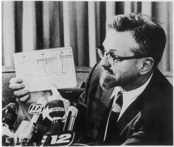 J ALLEN HYNEK American astronomer and UFO investigator, at a press conference regarding the 1966 Hillsdale sightings which he attributes to 'marsh gas&#39