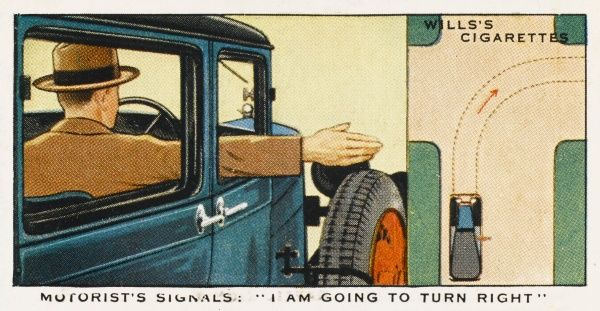 This signal means : 'I AM GOING TO TURN TO MY RIGHT.&#39