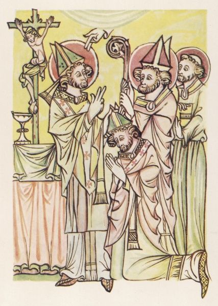 A bishop is consecrated, medieval Iceland