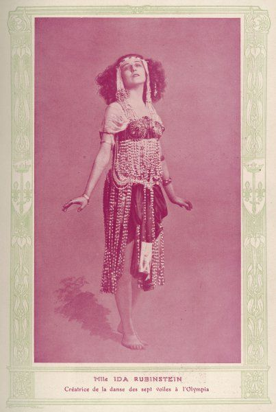 IDA RUBINSTEIN Russian-French ballet dancer and actress