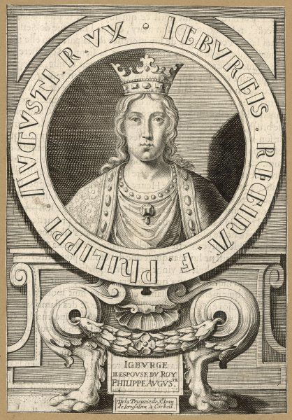 IGBURGE second queen of Philippe II Auguste, king of France