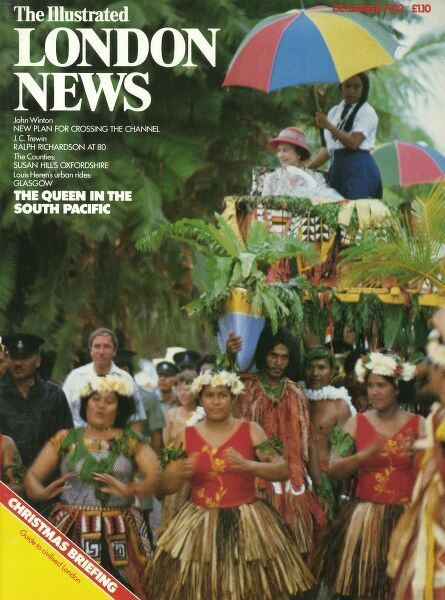 A front cover of Queen Elizabeth II in the South Pacific. Date: 01/12/1982