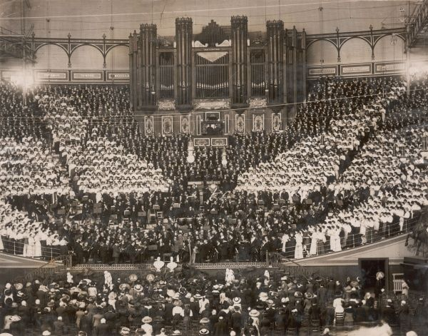 The Imperial Choir performing in a concert at the Crystal Palace, south London