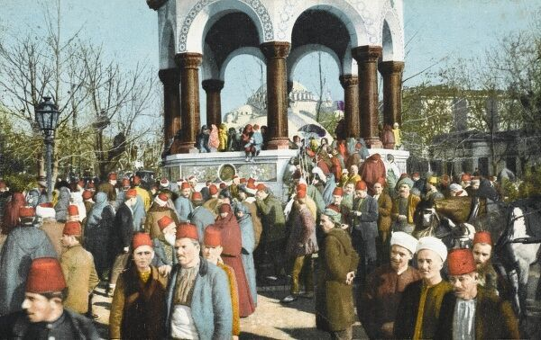 Inauguration of the Fountain of Kaiser Wilhelm II, Constantinople on the occasion of the Emperor's second visit to the city on the 27th January, 1901
