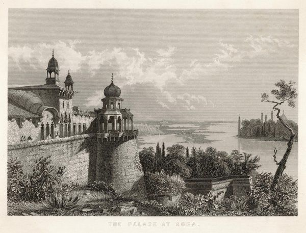 THE PALACE overlooking the Yamuna river