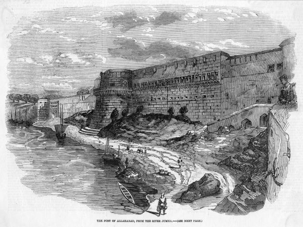 The Fort, on the banks of the Yamuna (formerly Jumna) river