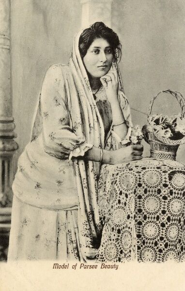 A Parsee (Parsi) Beauty of India Date: circa 1910