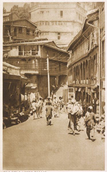 Simla: Lower Bazaar