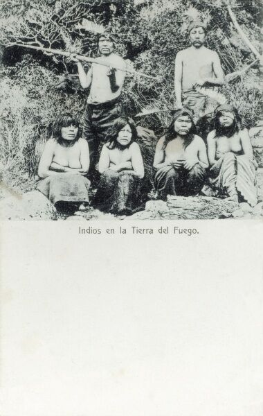 Indigenous Indians from Tierra del Fuego, Argentina Date: circa 1907