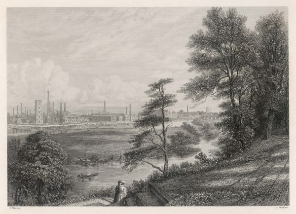 The industrial landscape at Burton on Trent