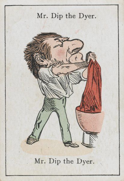 "Mr Dip the Dyer, from ""Happy Families"" devised in Britain by Mr Jacques in 1861"