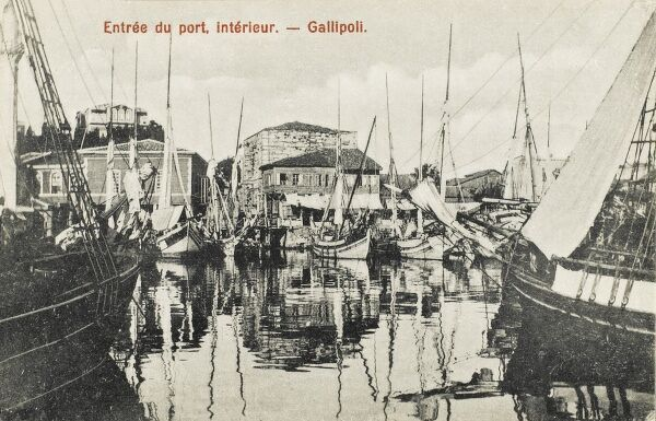 The entrance to the inner harbour at Gallipoli