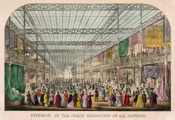 The Great Exhibition of All Nations - general view of the interior of the Crystal Palace in Hyde Park, London