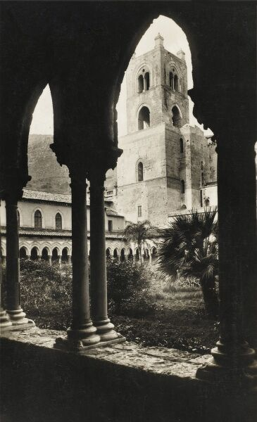 View of the Norman Cloister at the Cathedral of Monreale, Sicily