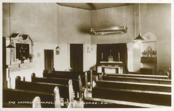 The interior of the Catholic Chapel, Warwick Square, Pimlico, London Date: 1940