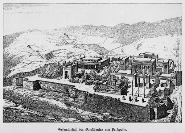 (Perseh, or Takht-e Jamshid) - Restoration of the imperial palace which dominated the ancient city