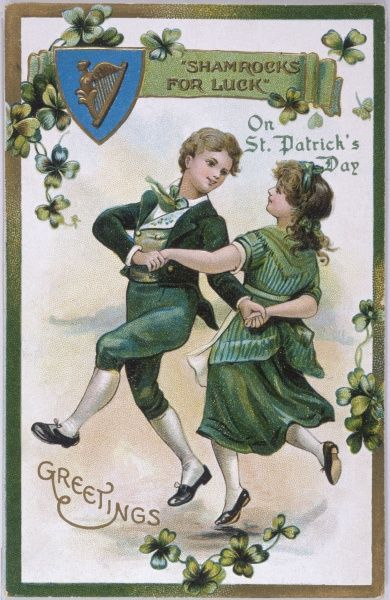 Two Irish youngsters dance a jig