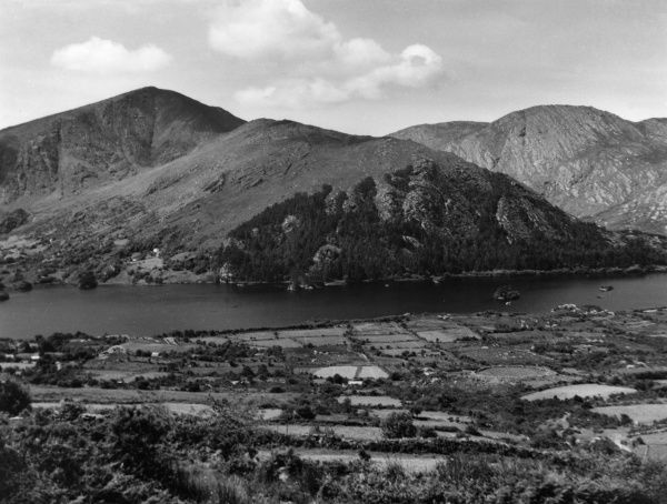 A fine view, overlooking Glanmire Lake and Lackabane, County Kerry, Ireland. Date: 1950s
