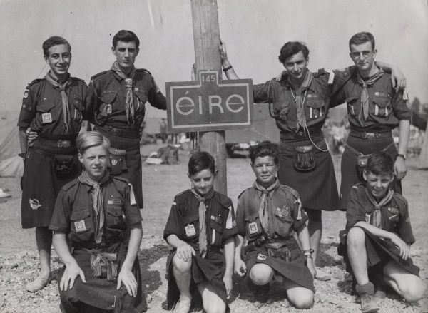 Scouts from Eire during the 6th World Scout Jamboree at Moisson, France