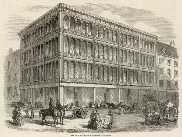 The new iron and glass warehouse erected in Jamaica Street, Glasgow